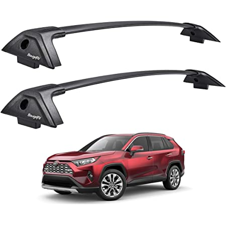 Autekcomma Roof Rack Cross Bars for Toyota RAV4 2019-2020 Not Fit Models for Adventure//TRD Off-Road Anti-Theft Lock Mechanism Silver Painting Aluminum Anti-Corrosion crossbars Loading 260lb