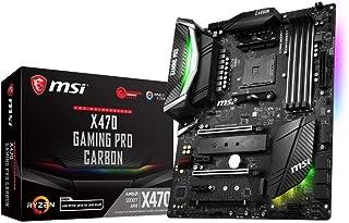MSI X470 Gaming Pro Carbon - Placa Base (AMD X470 Chipset, 4 x DDR4-SDRAM, Velocidad de procesador 3466 MHz OC, 64 GB de Disco Duro, suporta AMD Ryzen procesadores) Color Negro