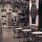 Digitaldruck / Poster Alan Blaustein - Cafe, Montmartre -