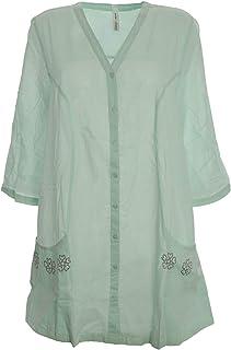 48//50 Grau Ton Sheego Damen Shirt Gr 511 mit Blusenansatz
