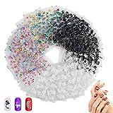 Wolintek Pegatinas Uñas,50 Hojas 3D Pegatina Decoracion para las Uñas Decal DIY Etiqueta Decoración Arte Adhesivos Uñas Pegatinas