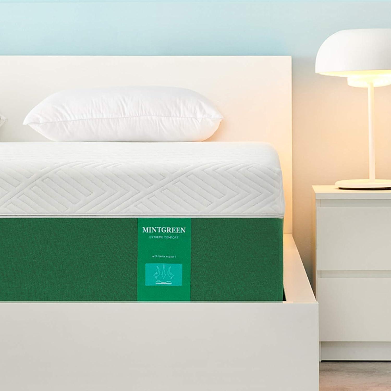Queen Mattress Mintgreen 10 inch Gel Memory Foam Mattress with CertiPUR-US Certified Foam Bed Mattress in a Box for Sleep Cooler & Pressure Relief Queen Size Mattress