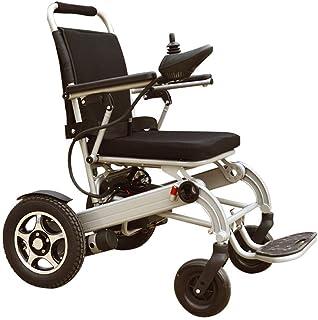 HXCD Silla de Ruedas eléctrica de Aluminio Ligera para discapacitados de Alta Carga, Dimensiones de la Silla de Ruedas Plegable Ligera