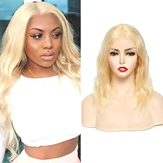 Sponsored Ad - Blonde Lace Front Human Hair Wigs 613 Body Wave Wigs Human Hair Middle Part Pre Plucked Natural Hairline La...