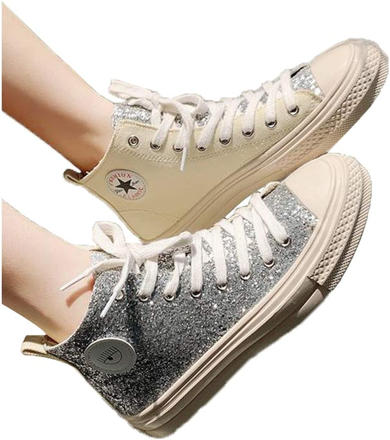 ZUUI Women's Canvas shoes Casual Sneakers Low Cut Lace Up Fashion Comfortable Walking Flats