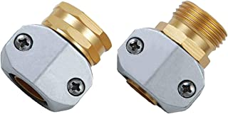 PLG Heavy Dutty Garden Hose Repair Kit,Water Hose Connector/Replacement/Mender/Clamps,Fits All 3/4-inch or 5/8-inch Garden Hose