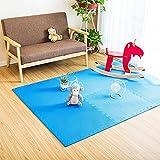 Fenfen PE Mat Puzzle Mosaic Crawler Mat Dormitorio para niños Tatami Floor Mat 6 / Bolsa, Azul/Verde / Amarillo/Rojo / Powder/m / Brown, 60x60 * 1.2cm (Color : Blue)