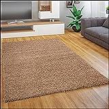 Shaggy - Tappeto A Pelo Lungo in Diversi Colori E Misure, Dimensione:150 cm Quadrato, Colore:Beige