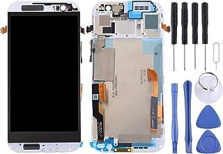 شاشة الهاتف المحمول LCD LCD Screen and Digitizer Full Assembly with Frame for HTC One M8 Dual SIM (White) شاشة LCD (Color ...
