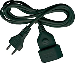 Brennenstuhl Kunstoff-Verlängerungskabel für den Innenbereich, 3m Kabel, mit Euro-Stecker und Kupplung schwarz