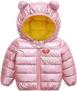 Macondoo Girls' Coat Lightweigth Quilted Hoodie Winter Boys Down Jacket