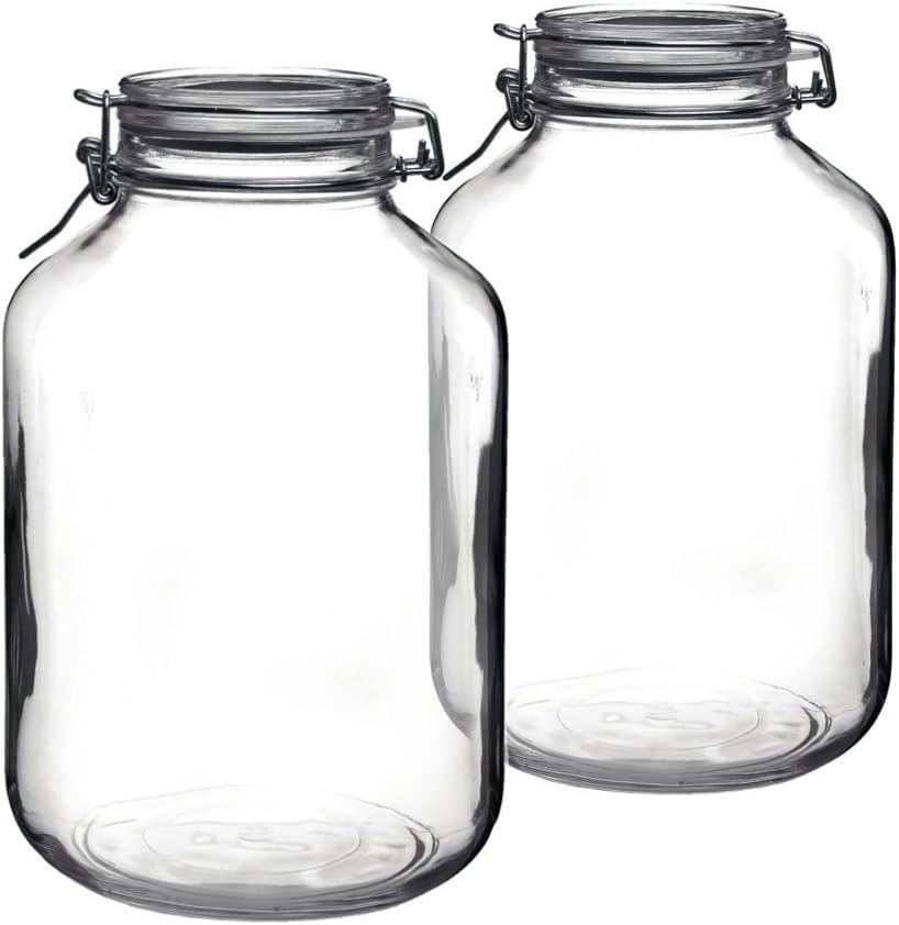 Bormioli Rocco Fido Round Glass 2020A W新作送料無料 Set 毎週更新 of 2 Jar