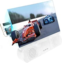 GESECRET 12'' Mobile Phone Screen Magnifier 3D HD Clear Screen with Bluetooth Speaker Amplifier Universal