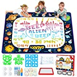Jasonwell Aqua Magic Doodle Mat - 48 x 36 Inches Large Water Drawing Doodling Mat Painting Writing Doodle Board Coloring Mat Educational Toys Gift for Kids Toddlers Age 3 4 5 6 7 8 Year Old Girls Boys