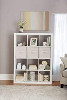 Better Homes and Gardens.. Bookshelf Square Storage Cabinet 4-Cube Organizer (Weathered)..