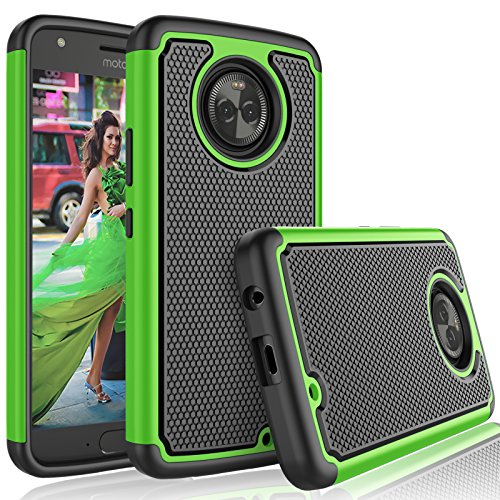 Tekcoo for Moto X4 Case / 2017 Motorola Moto X 4th Generation Case for Girls, [Tmajor] Shock Absorbing [Green] Rubber Silicone & Plastic Scratch Resistant Bumper Grip Rugged Hard Cases Cover