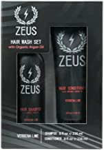 ZEUS Hair Wash Set, Shampoo and Conditioner with Organic Argan Oil, Verbena Lime Scent