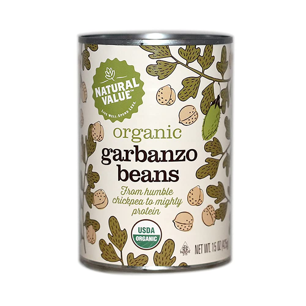 Jacksonville Mall Natural Value Organic San Jose Mall Garbanzo cans 15-oz. 6-pack Beans