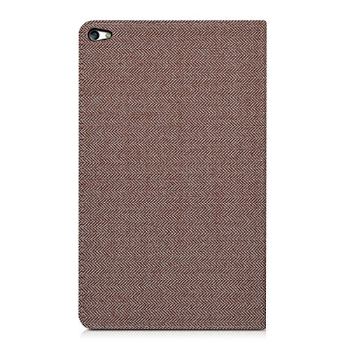 kwmobile Hülle für Huawei MediaPad T2 10.0 Pro - Tabletcover Slim Case Tablet Schutzhülle - Smart Cover Tabletcase Canvas Design Braun - 3