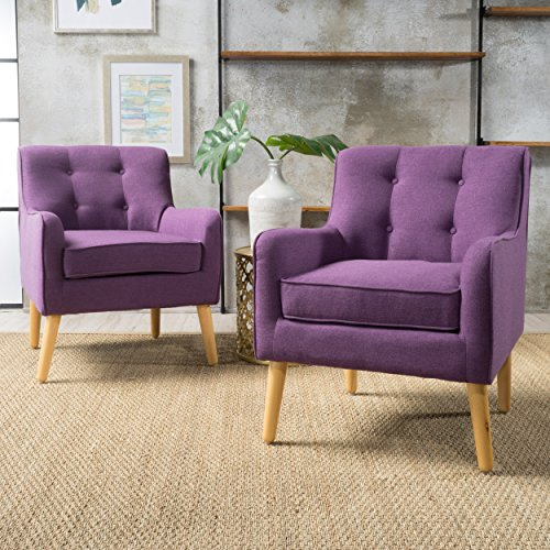 Christopher Knight Home Felicity Arm Chair, Purple