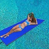 earlyad Almohadilla Flotante para Agua, colchón Flotante para Piscina Manta Flotante para Agua de 2/3 Capas Alfombra Flotante de Espuma XPE Resistente al desgarro Durable para Deportes acuáticos