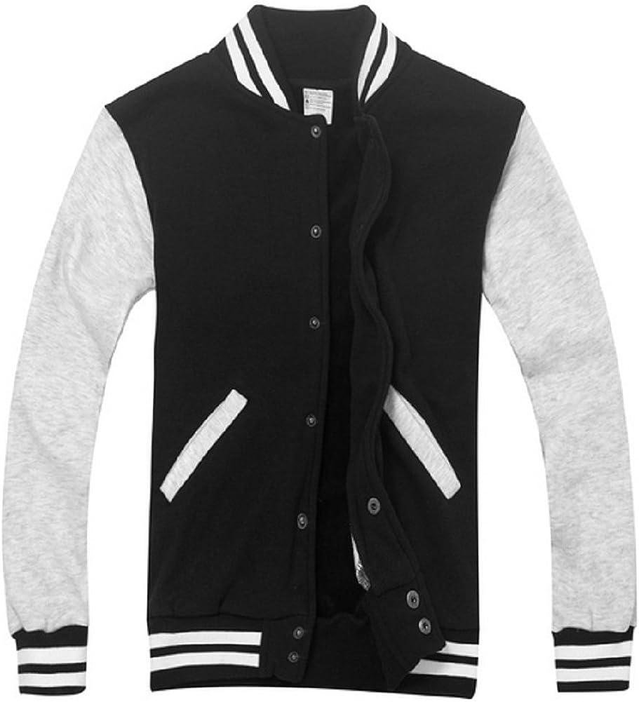 Sorrica Long Sleeves Fleece Varsity Baseball Bomber Jacket Letterman Jacket