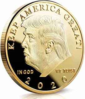 The Official Donald Trump Commemorative Coin-Eagle Commemorative Novelty Coin 45th President of The United States of America Certificate of Authenticity (2020, Golden)