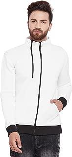 FUGAZEE White Scuba Zipped Jacket