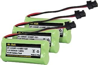 BT-1021 BBTG0798001 BT-1008 BT-1016 Replacement Battery for Uniden Cordless Phone D1785 D1680 D1760 D1788 D3097 D3098 D1780 DWX207 DCX200 DCX160 Handset Telephone (3-Pack)