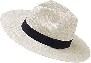 Janey&Rubbnis Summer Handmade Wide Brim Classic Fedora Natural Straw Panama Sun Hat