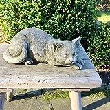 Antikas - Gato de Piedra Figuras jardín - Estatua Gato Adorno terraza jardín finca rústica - Animales de Piedra