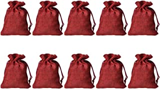 UPKOCH 20 Pcs Empty Drawstring Bags Lavender Sachet Bag Soft Gift Pouch Storage Bags Treat Bags Lucky Bags for Party Wedding Banquet (Wine Red)