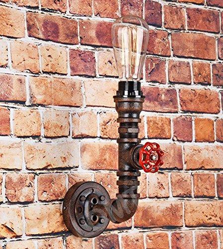 Stile Steampunk-Lampada da parete, in metallo, Design stile rustico