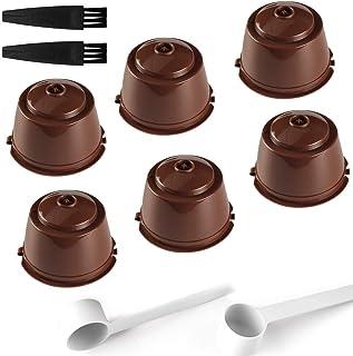TOCYORIC 6 Pcs Capsule Filtre de Café Réutilisables, Capsules Rechargeables à Cafe Compatibles avec les Machines Nescafe D...