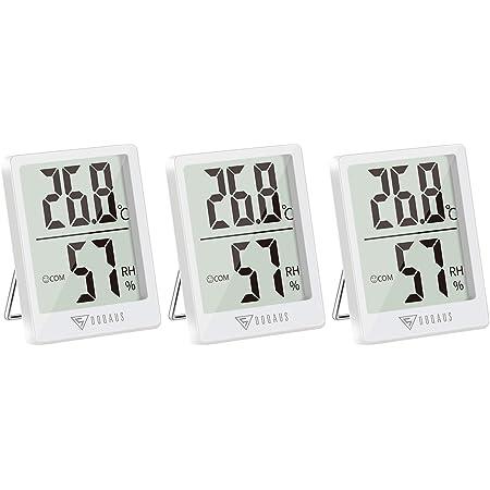DOQAUS 3 Piezas Mini Termómetro Higrómetro Digital, Medidor de Temperatura con 5s de Respuesta Rápida para Temperatura y Humedad del Casa Ambiente (Blance)