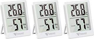DOQAUS Termometro Ambiente Interno, [3 Pezzi] Mini Igrometro Termometro Digitale, Accurato Misuratore Interna con l'Icona ...