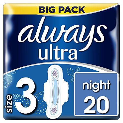 Always Ultra Night Binden mit Flügeln–Größe 3, 20Pads