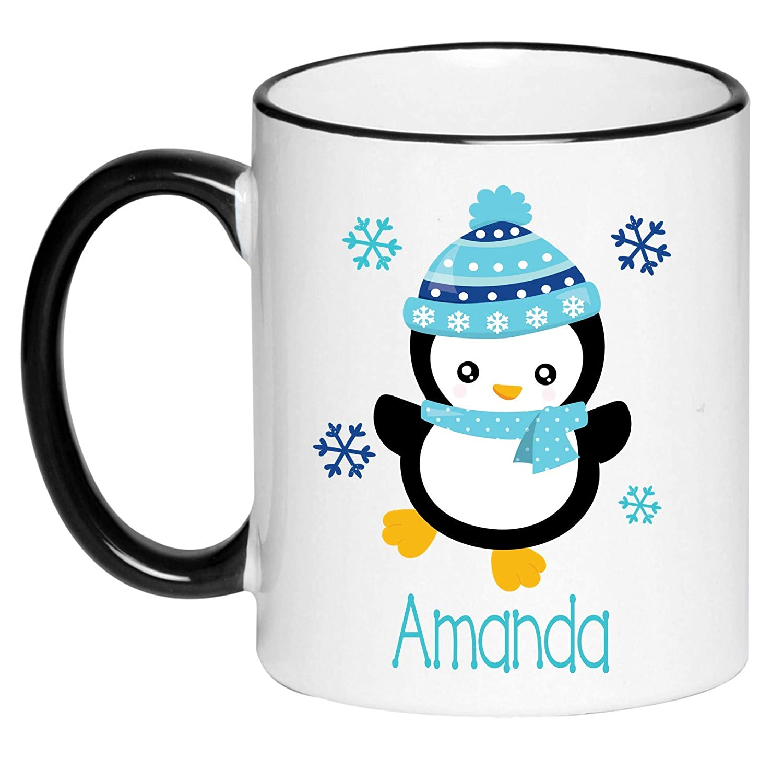 OFFicial shop Personalized Let Rare it Snow Penguin Hot H Chocolate Children's Mug