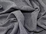 Minerva Crafts Woll-Tweed-Stoff, Marineblau, Meterware