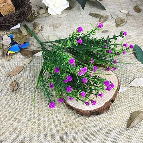 MEITAO Flor Artificial Pequeño Bulto De Plástico Hierba Falsa Flores Artificiales Jardín De Su Casa En Plantas Falsas Gypsophila: Amazon.es: Hogar