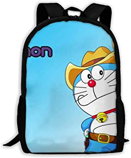 Custom Cute Doraemon Casual Backpack School Bag Travel Daypack Gift