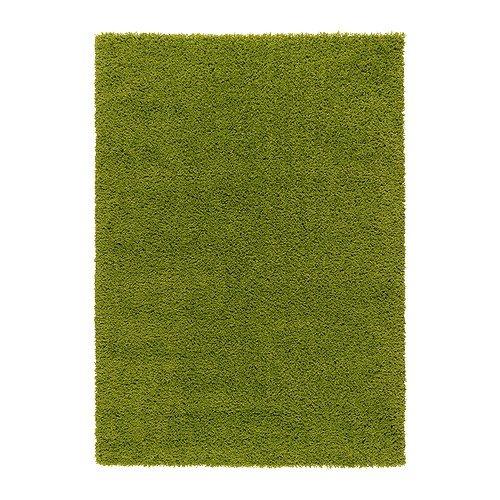 IKEA(イケア) HAMPEN 133x195 cm 10203771 ラグ パイル長、ブライトグリーン