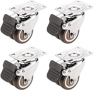 2-inch stil universeel wiel, stuur met rem, beweegbare meubelwieltjes, doe-het-katrolaccessoires (4 stuks)