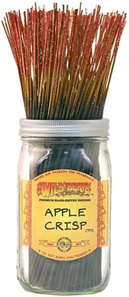 WILDBERRY Apple Crisp Highly Fragranced Incense Sticks Bulk Pack 100 Pieces 11 Inch