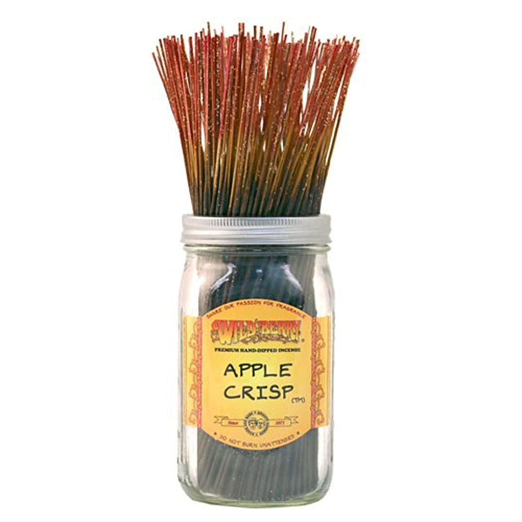 神社教育する応じるWild Berry Apple Crisp, Highly Fragranced Incense Sticksバルクパック、100ピース、11インチ