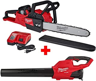 Milwaukee M18 FUEL 16 in. 18-Volt Lithium-Ion Battery Brushless Cordless Chainsaw Kit with M18 GEN II FUEL Blower