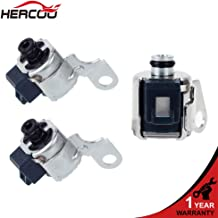 HERCOO A340 AW4 Transmission TCC Lock Up Solenoid + Shift Solenoids Kit Fits for 1986 UP Jeep Cherokee/Comanche/Wagoneer,Toyota 4Runner/Cressida/Pickup/Previa/Supra/T100/Tacoma, 1992-1997 Lexus SC300