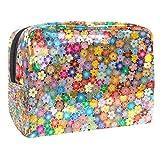 Bolso de aseo de viaje de flores coloreadas, bolso impermeable premium del viaje con cremallera actualizada