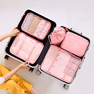 Packing Cubes Dust-Proof 6pcs Sets Travel Storage Bag Organizer Luggage Compression Pouches Suitcase Organiser Bags Multi-Color Optional QDDSP (Color : E)