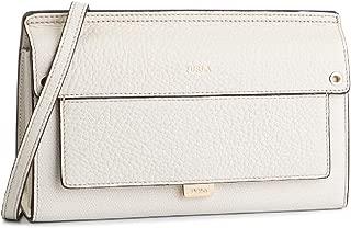 Like Ladies One Size Beige Leather Crossbody Bag 1007283